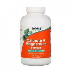Calcium & Magnesium with Zinc and Vit D3 240 Softgels