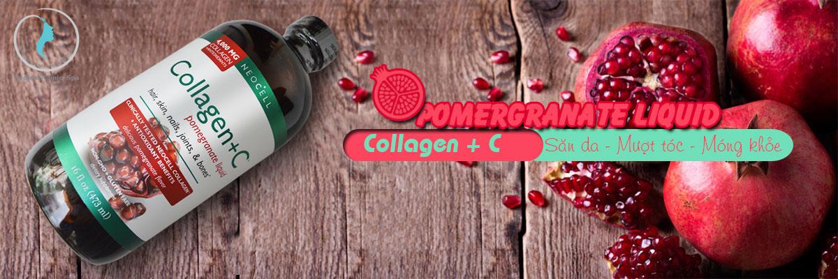 NEOCELL COLLAGEN+C POMEGRANATE LIQUID 473ML